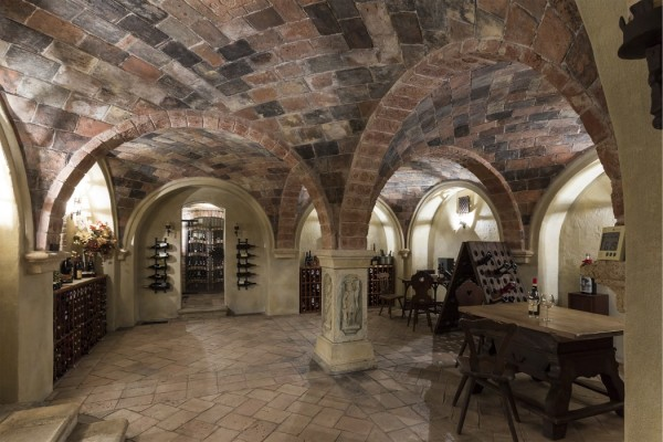 Vaulted Medieval-Style Austrian Wine Cellar