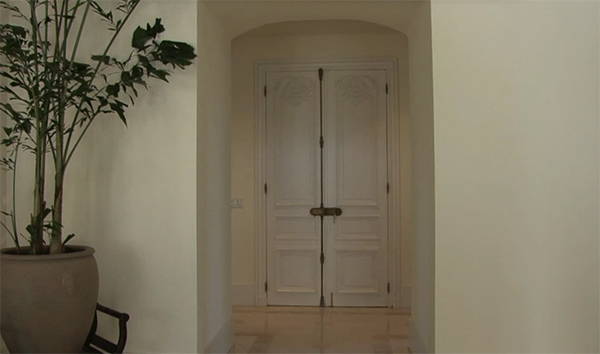 The entryway doors are from a French Villa.