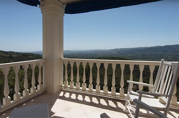 View from the terrace attached to the Master Bedroom Suite.