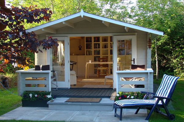 How to transform your backyard storage space into a for Outside office shed