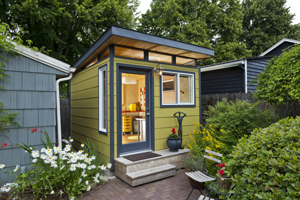 How to transform your backyard storage space into a charming she shed real sonoma Better homes and gardens house painting tool