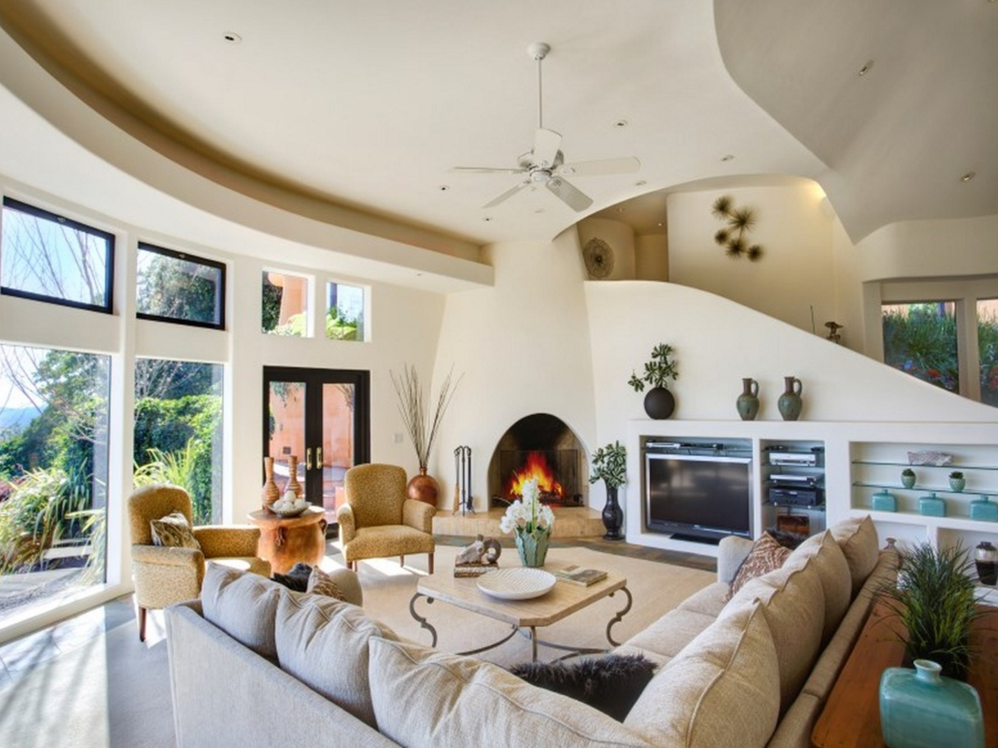 stunning pueblo style home in santa rosa on the market for 3 2m living room