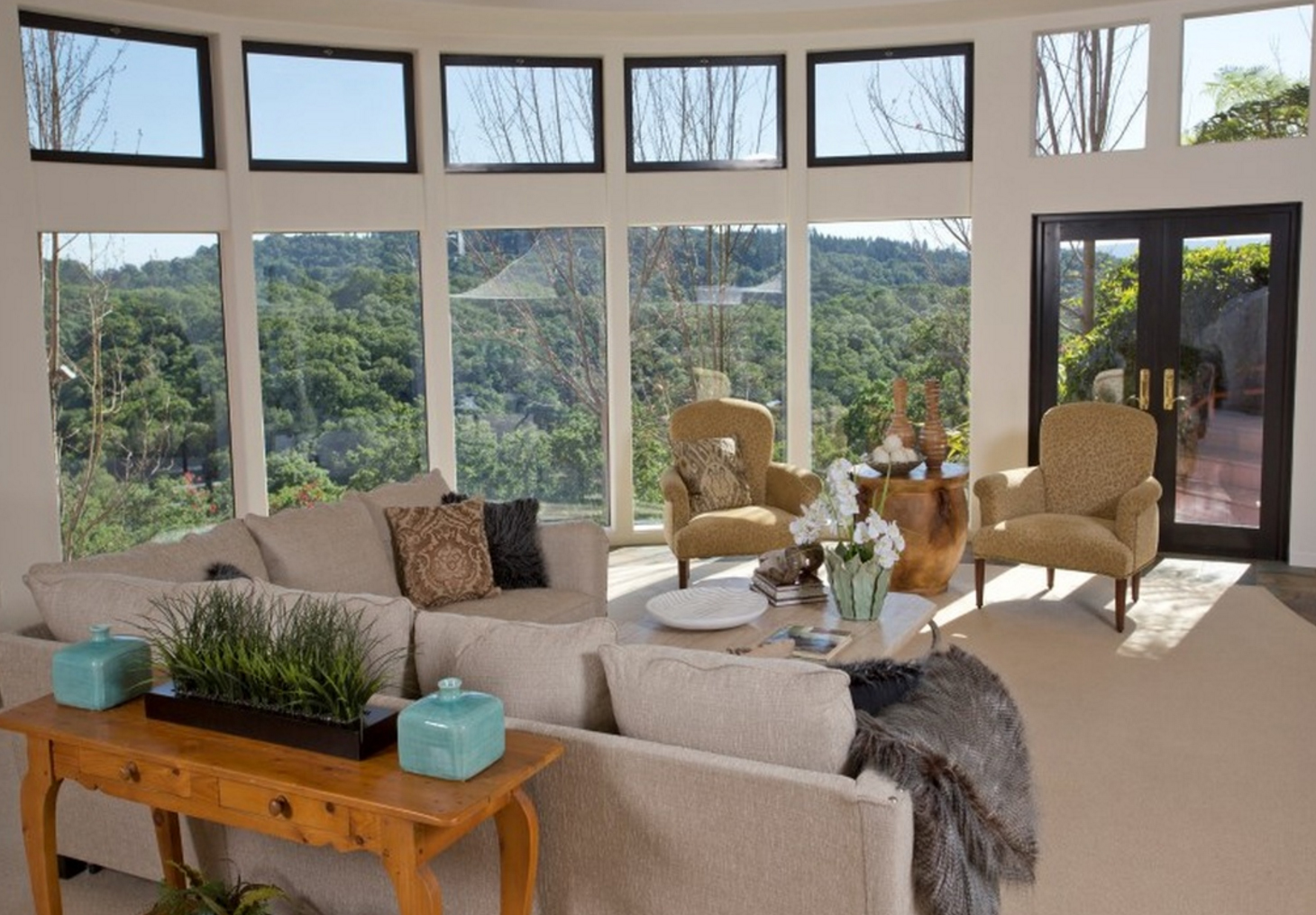 stunning pueblo style home in santa rosa on the market for 3 2m living room view
