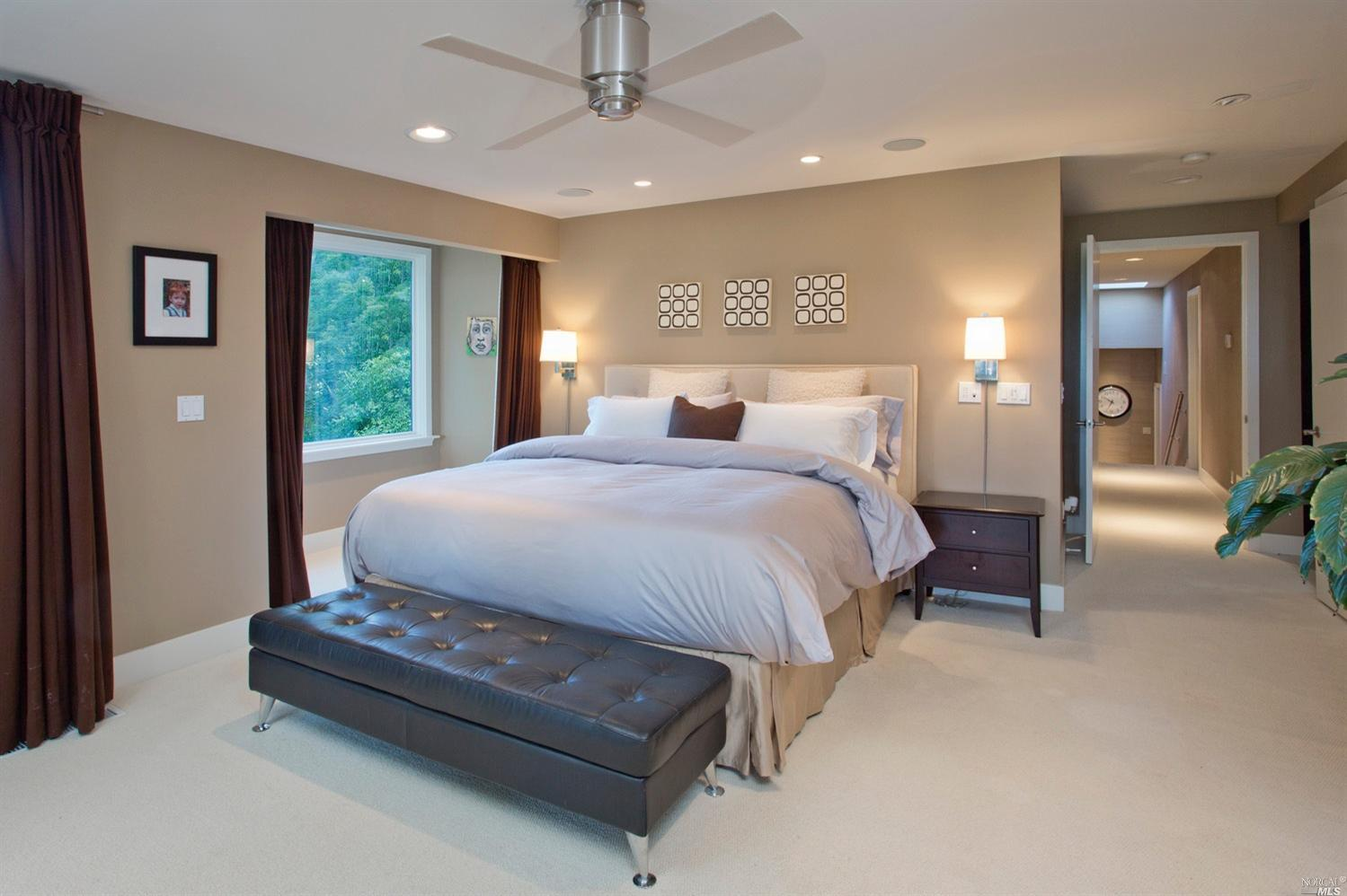 Mid century modern estate makes a statement in santa rosa - Mid century modern master bedroom ...