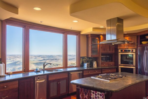 Kitchen with view.