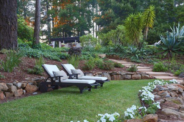 Lawn area.