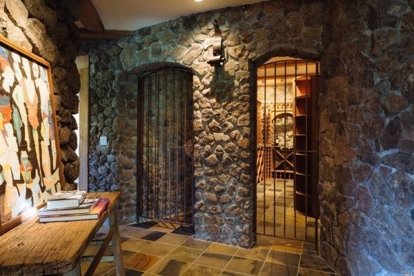 Entrance to the wine cellar.