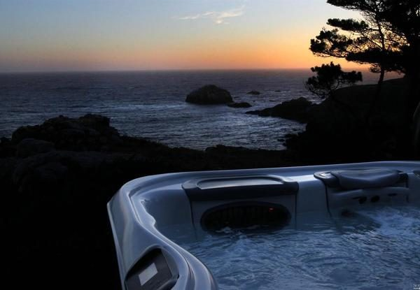 Sunset from the hot tub.