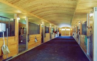 Interior of the horse barn.