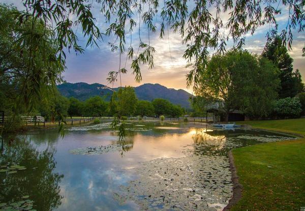 Private pond.