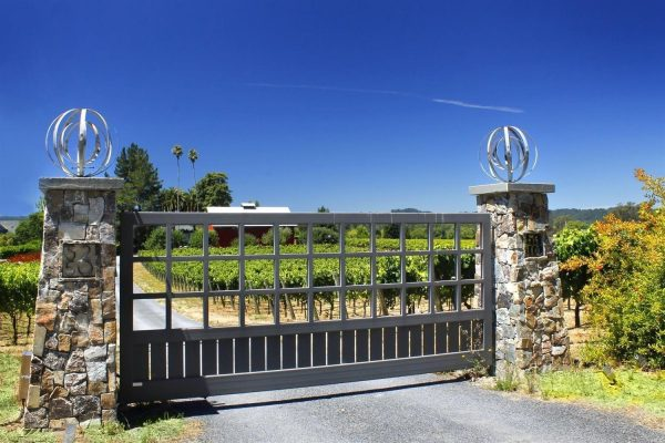 Gate leading to the estate.