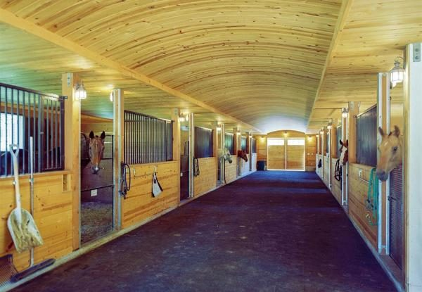 Barn with horses. (Photo courtesy of Sotheby's International Realty)
