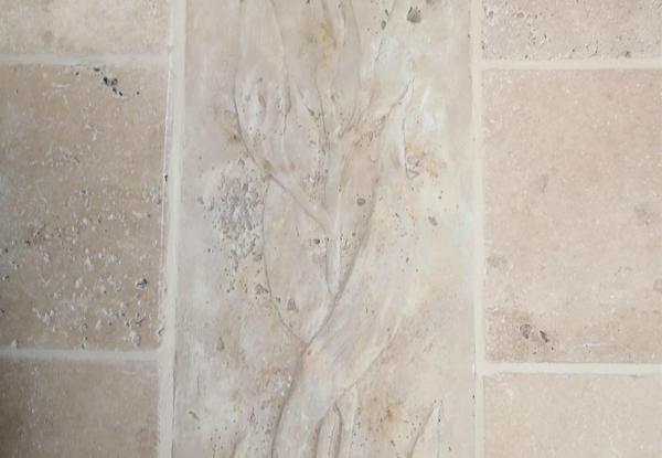 Limestone walls detail.