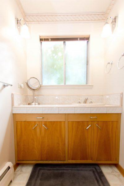Guest bathroom, sink area.