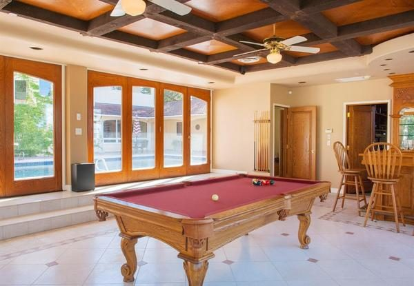 Bar and billiard room.