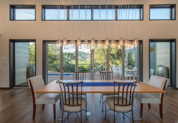 Stunning ultramodern prefab home in healdsburg listed at for Formal dining area