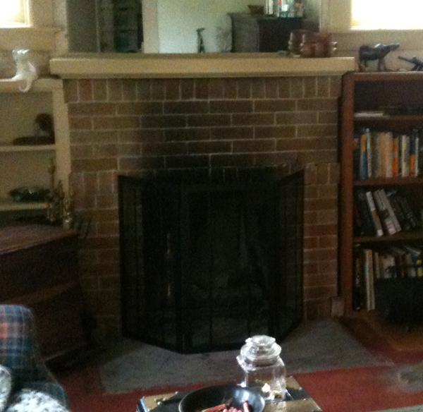 Original fireplace.