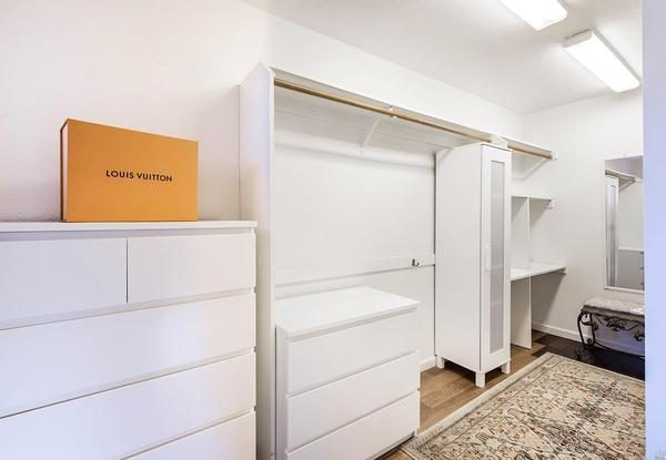 Walk in closet. (Photo courtesy of Vanguard Properties)