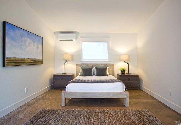 Guest cottage bedroom.
