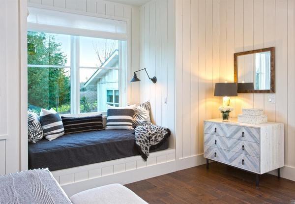 Window seat in master bedroom.
