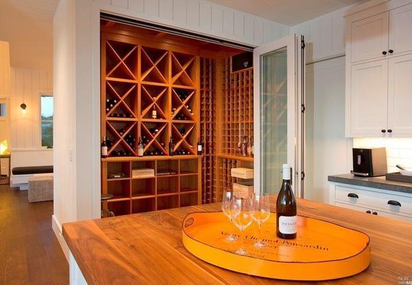 Wine storage area.