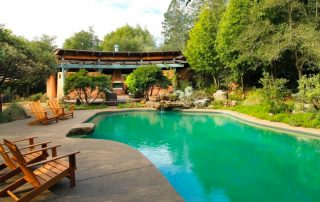 Custom pool. (Photo courtesy of Healdsburg Sotheby's International Realty) Thingsare getting more interesting now with this custom pool, but it's what's at the deep end that really grabs the attention. Scroll through to check it out...