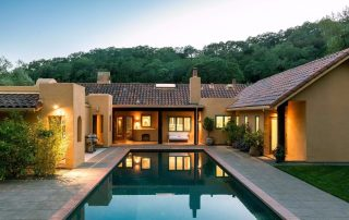 Backyard at dusk. (Photo courtesy of Sotheby's International Realty)  I'm fairly certain the next owners will spend that time just enjoying it here.