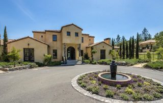 7200 Wildwood Mountain Road, Santa Rosa - $2,495,000 3 beds, 3.5 baths, 5,642 square feet. Year built: 2006.  Front of home. (Photo courtesy of Pacific Union International) I admit when I first saw this house (estate) I thought it had been mis-categorized - with the large circular drive and fountain it could very well be an upscale hotel. But we know better; scroll through to see what this mansion is all about...