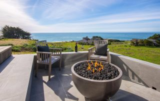 beachfront sea ranch property fire pit